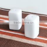 2pcs square ceramic salt & pepper shaker set