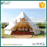 Outdoor luxury canvas bell tent