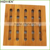 High Quality Tables Use Natural Bamboo Trivet Hot Mat for Kitchen Dining Room Table/Homex_Factory