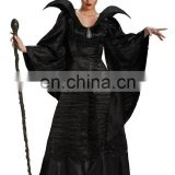 Hot Sale Adult Maleficent Sleeping Beauty Black Gown Halloween Costume AGC109