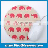 Lovely Pink Elephant Carton Printing Mouse Pad