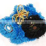 Handmade Crafted Boho Banjara Key Chain Blue Handbag 5 PC's key Ring