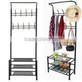 Multi-functional Metal Shoes Storage Shelf Clothes Stand coat rack