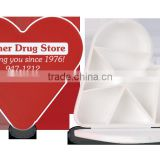 USA Made Heart Pill Box - exclusive heart design with seven pill compartments and comes with your logo