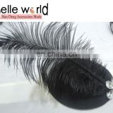 Black Feather Hair Clip Mini Top Hat
