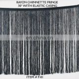 rayon solid chinnette fringe