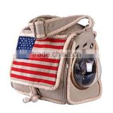 CATS CARRIERS BAG WITH BUBBLE AND USA FLAG INNOVATIVE PET PRODUCTS