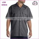 Custom Professional Work Wear Men Shirts 2017 with two chest pockets