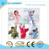 most styles hooded animal modeling child bathrobe, cartoon baby towel, character kids bath robe