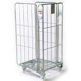 3 Sides Warehouse Supermarket Roll Cages With Wheels