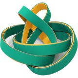 High Speed Nylon Sandwich Flat Power Rubber Transmission Belts Design Type Yellow/Green