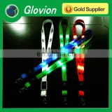 Custom Lanyard with card holder for exhibition led flashing lanyards ultra-high-bright led light lanyard