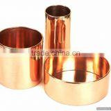 copper shiny polished stylish planters