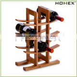 Bamboo wine holder/ wine storage rack /wine rack cabinet Homex-BSCI