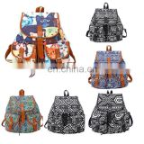 Summer and autumn wind ladies backpack canvas bag