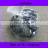 Wholesale Black Polished Natural Pebble for Garden Decor