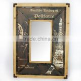 Decorative wall mirror of rustic style