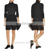 china OEM womens winter clothes black cashmere turtleneck sweater