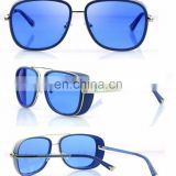 Mens Square Tony Stark Iron Men Sunglasses Retro Transparent Lens AS019