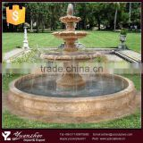 outdoor decorative big 3 tier stone marble water fountain