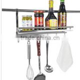 1 tier wall kitchen shelf for bottles and shovel