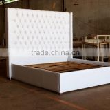 Upholstered White Painted Bed