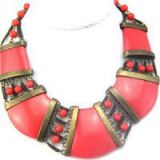 Fashion Resign Coral Color Necklace