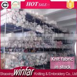 Shaoxing Winfar Manufacture clearance textile knit fabric lot of stock fabric for sale