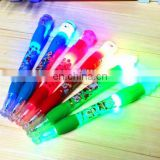 multi function school used led pen projection logo plastic pen