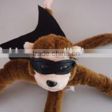hot-selling cartoon flying series of elastic slingshot monkey chick and piog plush doll toy