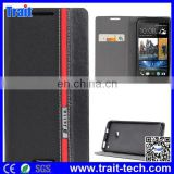 Cute Color for HTC One M7 Double Dip Flip Stand Case with Card Slot