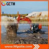 Construction machinery amphibious excavator for soft terrains 45t operation weight max21m arm 0.9bucket