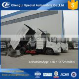 China factory truck mount street cleaner, broom sweeper truck, road sweeper truck specification