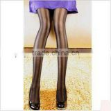 Newest Winter Wholesale Sheer Nude Women Sexy Vertical Stripe Slimming Women Fashion Tights