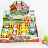 New item funny cheap rolling wind up moving toy animal for kids