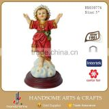 5 Inch Resin Craft Religious Items Christmas Decoration Resin Nino Baby Jesus Statue
