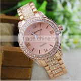 2014 rhinestone new women metal watch