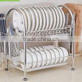 Stainless steel 2 tier S style draining rack