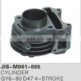 Motorcycle parts & accessories cylinder/engine for GY6-80