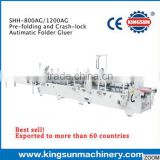 SHH pre-folding and bottom lock automatic folder gluer machine