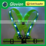 NEW led safety vest flashing led safety vest blue safety vest