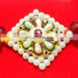 Exclusive Designer Indian Pearl Rakhi by Ratna Handicrafts