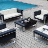 Leisure Outdoor Sofa Double seat Single Sofa Alu Frame 10cm Cushion TaiWan Olifen Fabric Garden