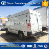 CLW minibus freezer box cargo van 4x2 4 wheel 130hp diesel engine with low price