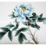 High quality handmade china art Peony painting & Calligraphy of Han Tan Yue