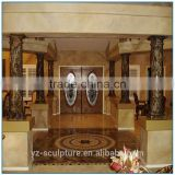 Artificial Moden Natrual StoneBlack Granite Column