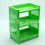 New arrival 3-layer plastic storage rack