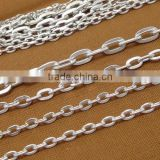 Multi Sizes Silver Plated Flat Cross O Chain Cable Link Iron Chain For Jewelry Diy