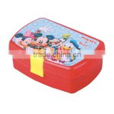 lovely colorful printing cartoon locked lunch box for kids