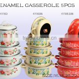 Hot new products 16-24cm 673DB enamel casserole cookware